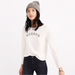 Madewell Queens Graphic Sweater/Shirt